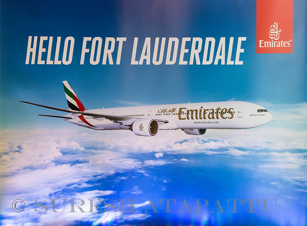 Emirates Inaugural service to FLL