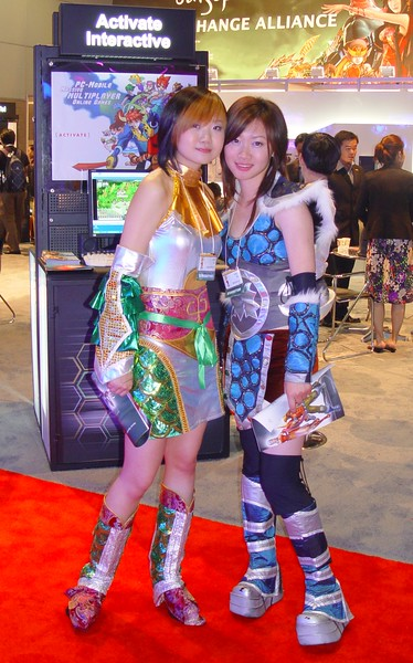 Asian booth-babes