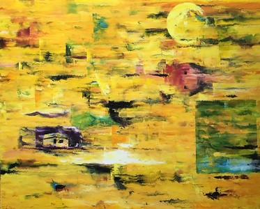 """""""Dream Field in Daytime"""" (oil on canvas) by Joel Barr"""