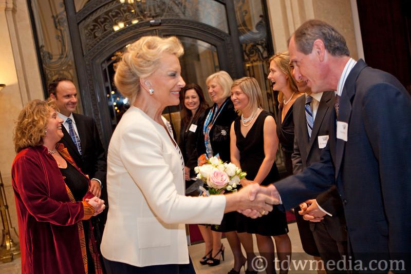 Princess Michael of Kent greeting  Guy Bristow