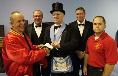 Tamaqua Masons Donate to Tamaqua Salvation Army,  SCMCL Toys For Tots, Masonic Lodge, Hometown (11-19-2014)