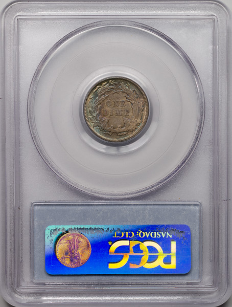 1886 10C DIME - SEATED LIBERTY, LEGEND OBVERSE PCGS MS63 18737712 CAC Rev Slab.jpg