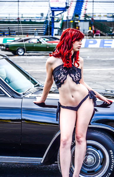Grid Girl Madison rocking a vintge SS