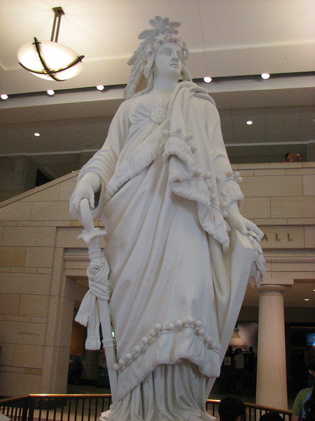 The casting they used for the Statue of Freedom atop the capitol building