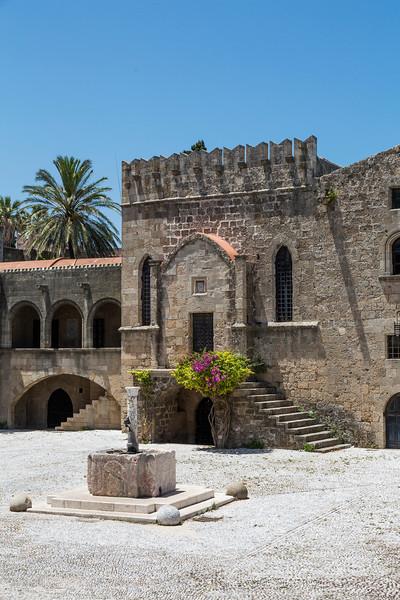 Argyrokastro Square, Rhodes, Greece