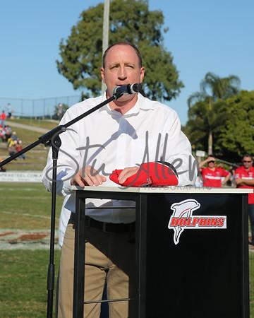 Tony Abott @Dolphins Oval