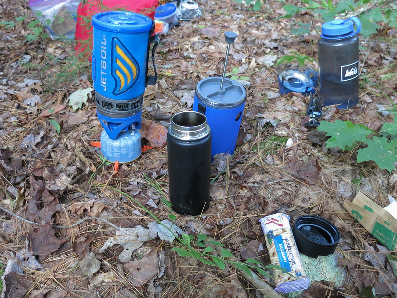 Backcountry coffee service.