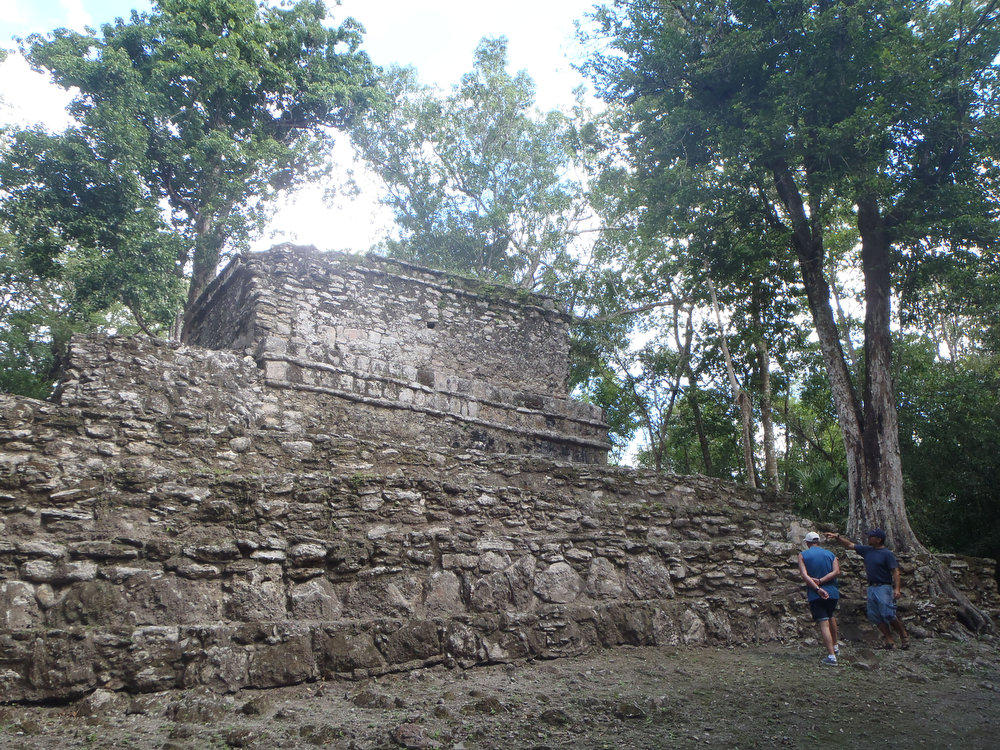. The ruins at Muyil in the Sian Ka\'an Biosphere Reserve offer a quieter and remote tour than at more crowded spots like Tulum, but there are only a few buildings.   (Kyle Wagner/Special to the Denver Post)