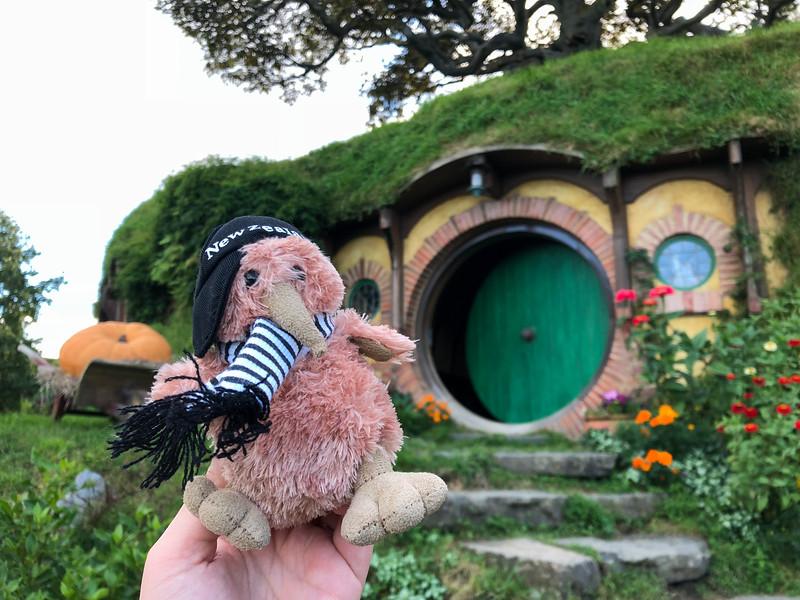 Stuffed kiwi at Hobbiton