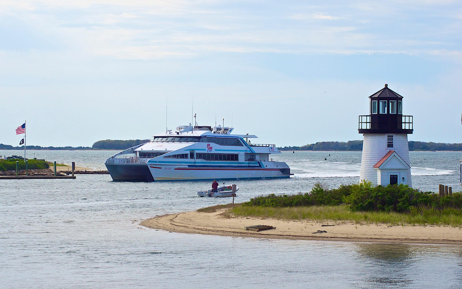 Russell L Frayre<br />  51512<br /> The HYLine high speed ferry comes into Hyannis Harbor/