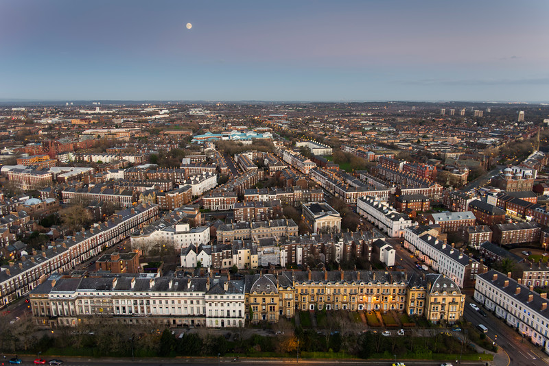 Canning Area of Liverpool from Above