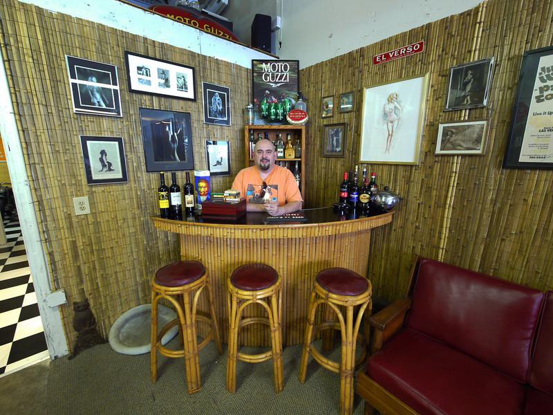 Me at the bar at Moto Guzzino