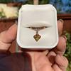 .84ct Fancy Deep Orange-Yellow Shield Shape Diamond Charm Ring 17