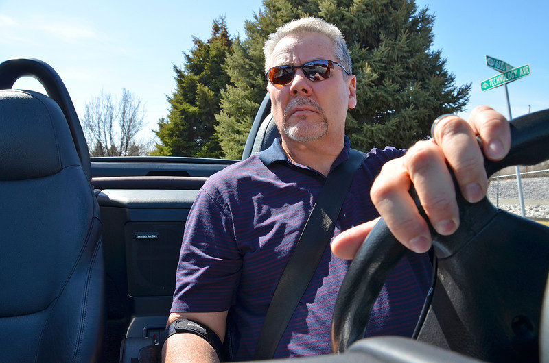 2012-3-12 ––– I tried a new feature on my camera today. You can set the timer and then tell the camera how many pictures to take. I did this then set it on the dash of my car as I was leaving the office to go gas up. As I drove it snapped a series of photos. I liked this one best because it look the most candid.