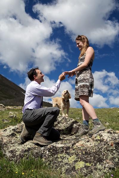 Scott&Jen Engagement on Mt. Elbert