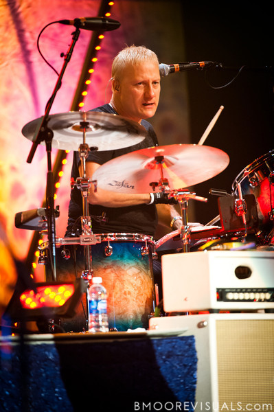 Gregg Bissonette performs with Ringo Starr & His All-Starr Band at Ruth Eckerd Hall in Clearwater, Florida on July 13, 2010. The band also features Wally Palmar, Rick Derringer, Edgar Winter, Gary Wright, and Richard Page.