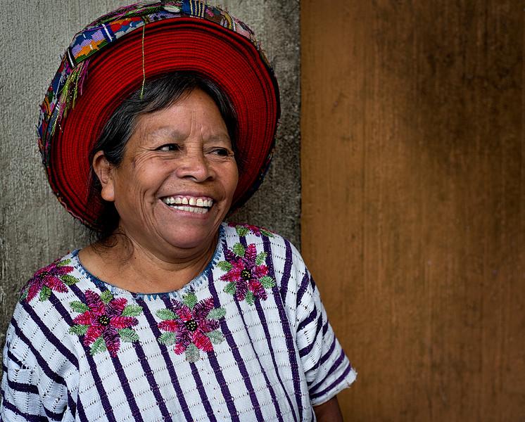 Mayan lady in the town of  Santiago de Atitlan, Guatemala.