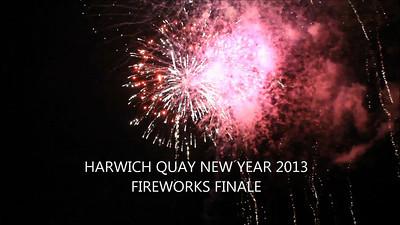 New Year Fireworks Harwich Quay