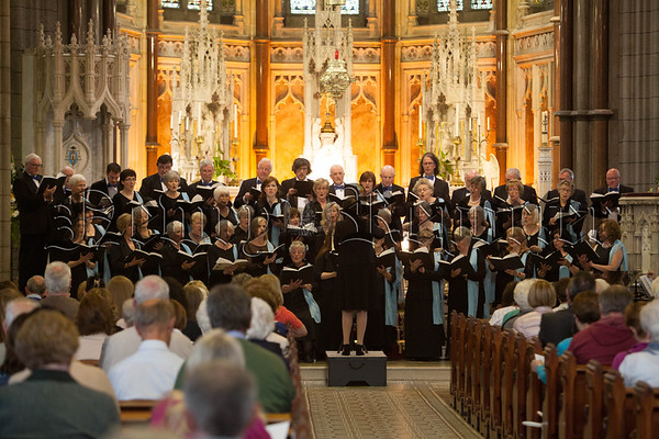 The South Down Choral Society who presented Karl Jenkins The Peacemakers at Newry Cathedral on Friday 13th May 2016. R1620016