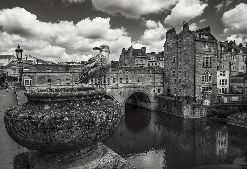Pulteney Bridge in the city of Bath.  Bath, England, 2018.