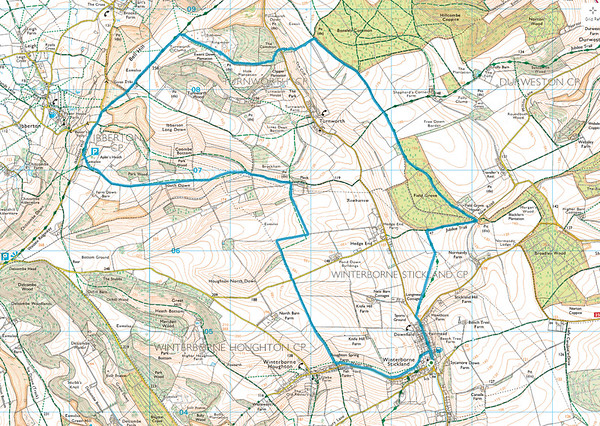 10.6 miles from Winterborne Stickland on 6 December 2015.