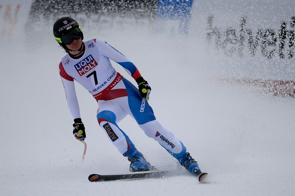 . BEAVER CREEK, CO - FEBRUARY 03: Fabienne Suter competes during the the ladies\' super-G finals. FIS Alpine World Ski Championships 2015 on Tuesday, February 3, 2015. (Photo by AAron Ontiveroz/The Denver Post)