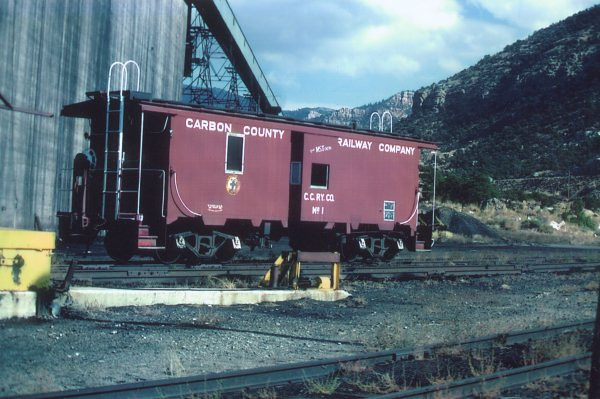 Carbon County steel caboose. (Gordon Cardall Photo)