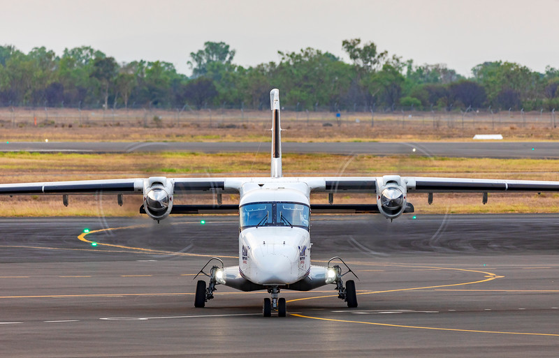 General Aviation Maintenance Dornier DO 228-202 VH-VJN landing at Rockhampton Airport