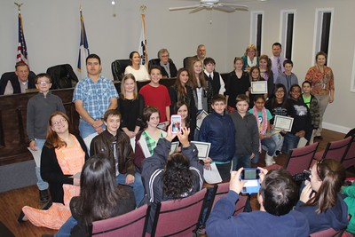 Students recognized at council meeting, 11/19/2014