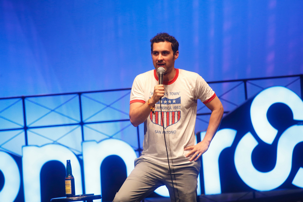 . Mark Normand performs at the 2015 Bonnaroo Music and Arts Festival on Saturday, June 13, 2015, in Manchester, Tennessee. Normand is at Hilarities 4th Street Theatre July 5-8. For more information, visit pickwickandfrolic.com/2016/07/mark-normand. (Photo by John Davisson/Invision/AP)