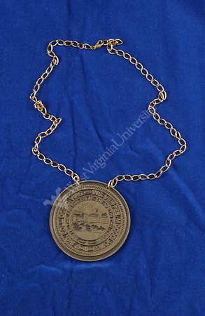 21867 Medallion on Blue/Black Backdrop