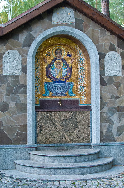 Water source and Icon at Etno Selo