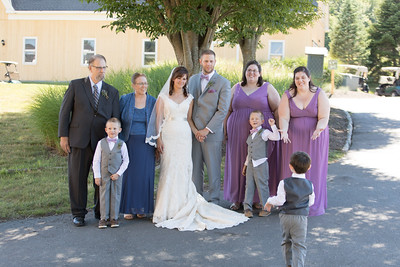 Group & Family Bridal Formal Portraits- Christen & Jacob Manuele New England Rustic Wedding Photography- Westfield MA The Ranch Golf Club, St. Mary's Catholic Church- Bridal Photo Studio