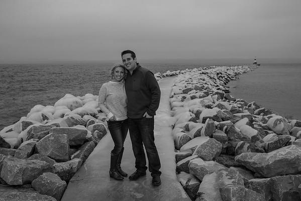 Petoskey, Northern Michigan Winter Engagement Jordyn + Matt