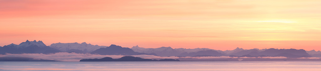 Coastal Mountain Range at sunrise