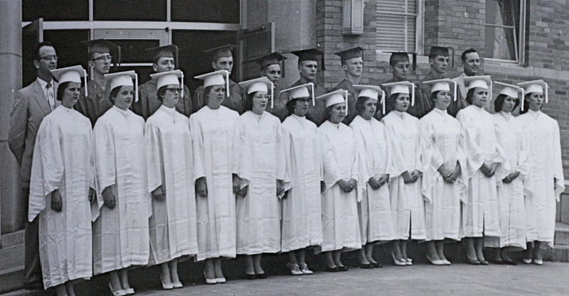 Class of 1959 before graduation on June 20, 1959