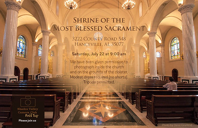 Shrine of the Most Blessed Sacrament 7-22-17