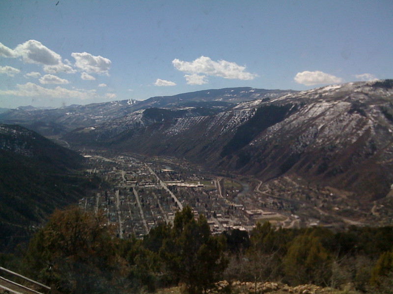 A view of south Glenwood Springs