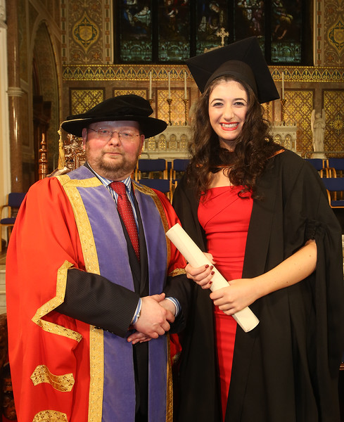 Pictured is Pamela Uddin from Waterford who graduated Bachelor of Arts (Hons) Marketing, also in photo is Dr. Derek O'Byrne, Registrar of Waterford Institute of Technology (WIT). Picture: Patrick Browne