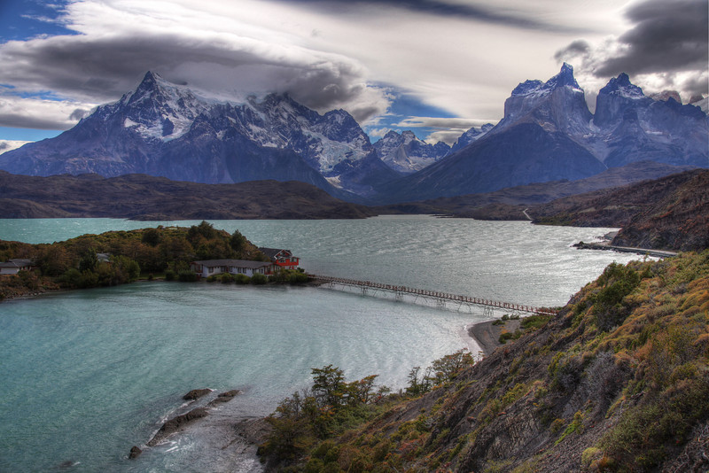 Lago Pehoe, Torres del Paine National Park, Chile. (HDR)