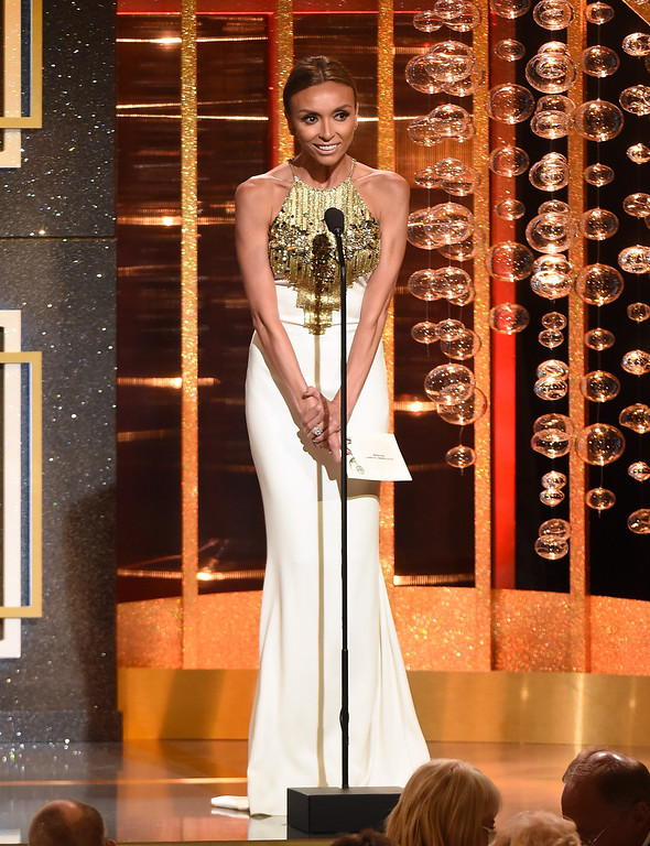 . TV personality Giuliana Rancic onstage at the 41st Annual Daytime Emmy Awards at The Beverly Hilton Hotel on June 22, 2014 in Beverly Hills, California.  (Photo by Michael Buckner/Getty Images)