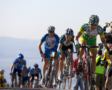 Even when the KoM points are taken, you have to fight to get up Sierra Road.