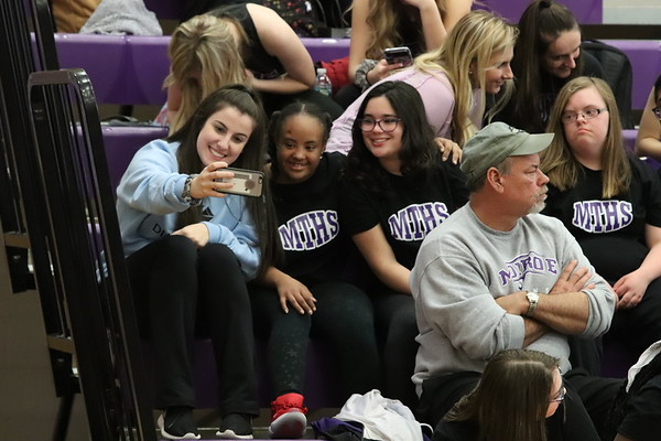 Feb  5,  2019 Unified dancers with MTHS Dance team at Girls basketball game, photos by R DeBoer