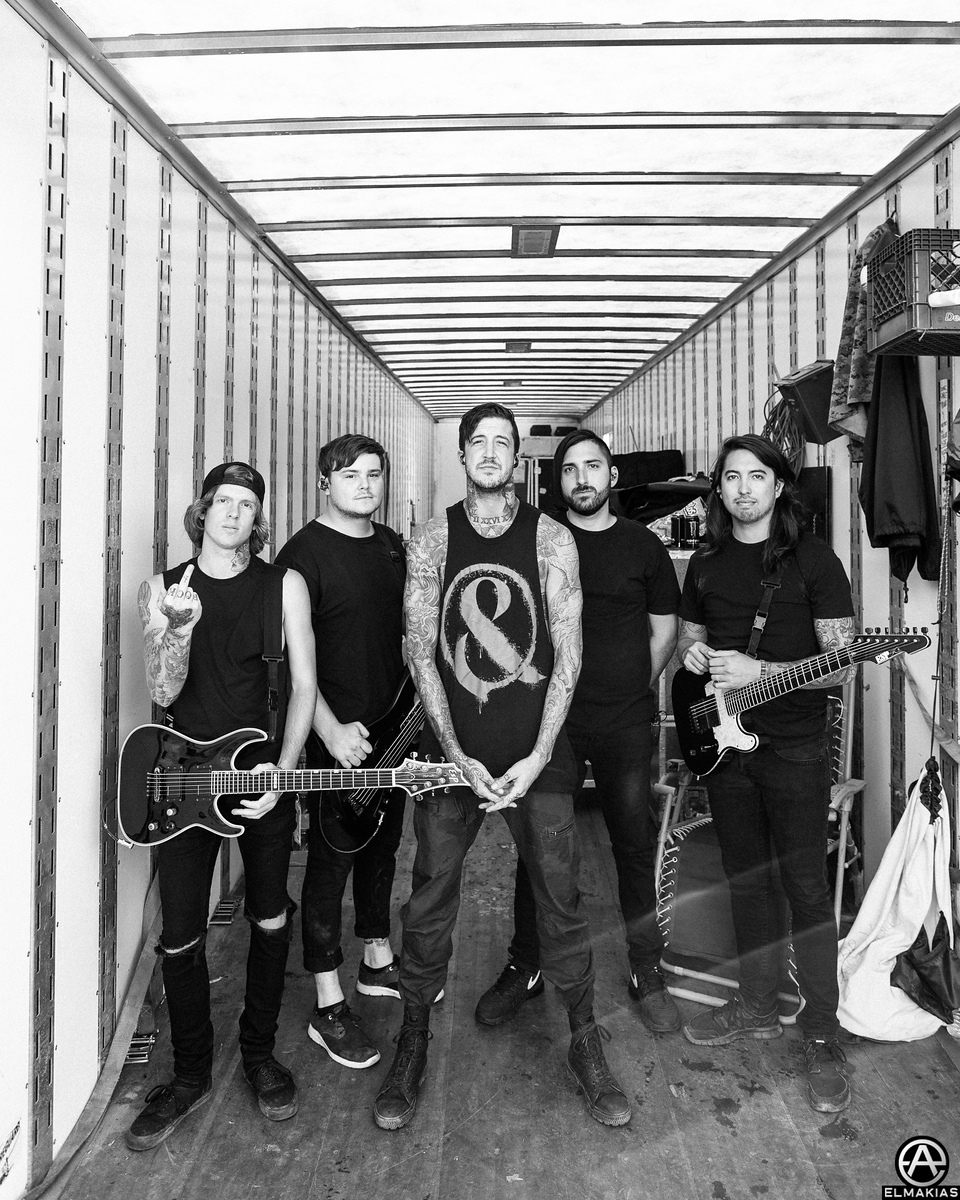 Of Mice & Men in the trailer before going to stage