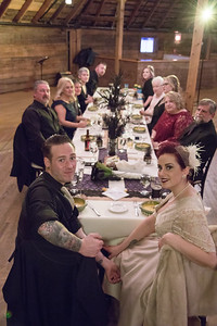 Reception Dinner- Lindsey & Dan O'Brien- St.- The Inn At The Round Barn Farm, Waitsfield VT Wedding Photographer