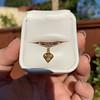 .84ct Fancy Deep Orange-Yellow Shield Shape Diamond Charm Ring 10