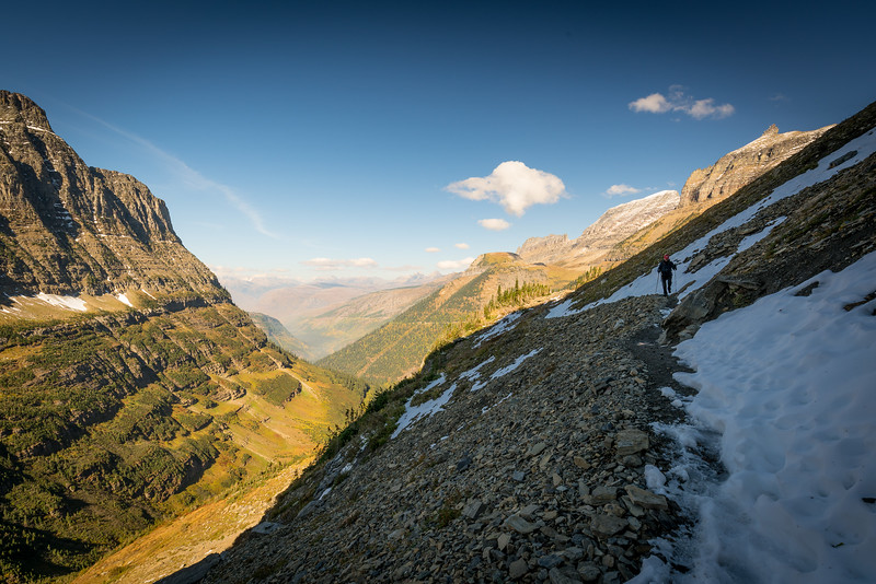 Glacier NP, Sunrise at Wild Goose Island, Highline Trail, Waterton Lake Park Canada.  Aspen