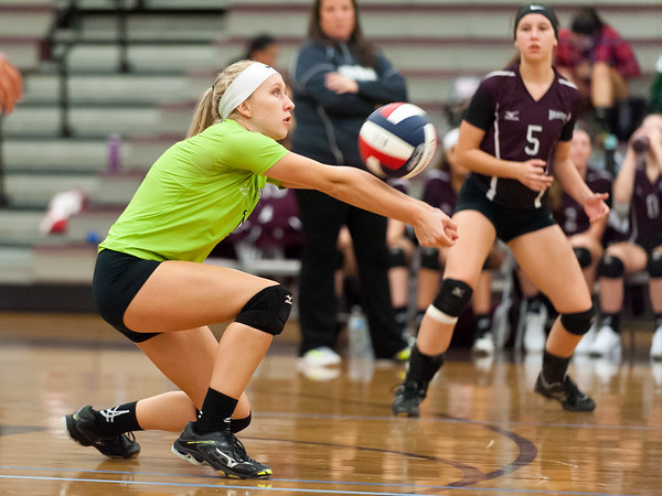 09/24/18 Wesley Bunnell | Staff Bristol Central volleyball defeated Middletown on Monday evening at Bristol Central High School. Amanda Warner (1).