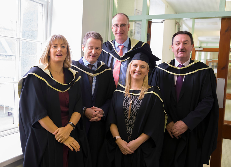 31/10/2018. Waterford Institute of Technology (WIT) Conferring Ceremonies 2018. Pictured are Heather Reynolds, Ken Healy, Martin Power, Jacqui Gaulle, Padraig Dunne. Picture: Patrick Browne