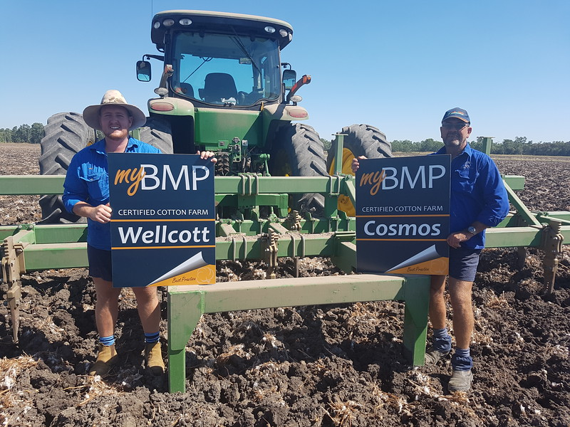 Travis and Lester Anderson proudly display their myBMP accredited farm signs..jpg
